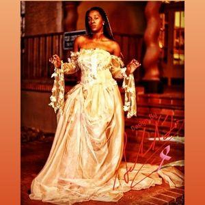 LYDIA Custom Order Blush Wedding Ballgown Set